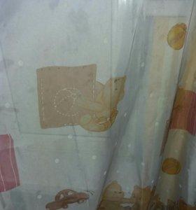 Тюль в детскую и шторы к нему