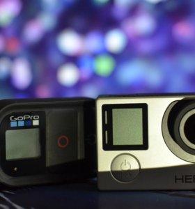 GoPro Hero 4 + пульт + карта 64gb