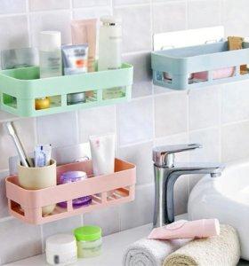 Полочка стеллаж для хранения в ванной на кухне
