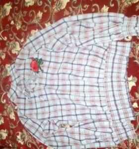 Рубашка в клетку стоимость 400рублей