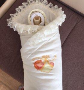 Комплект на выписку ( комбинезон+одеяло)