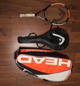 Теннисная ракетка и бокс