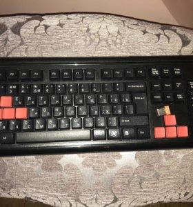 Игровая беспроводная клавиатура A4 Tech Gk-300A