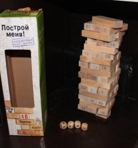 Игра для веселой компании Дженга. Построй башню!