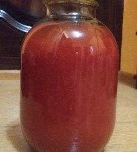 Сок томатный домашний
