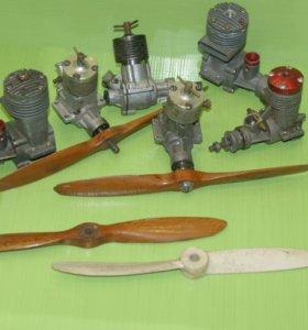 Двигатели для авиамоделей - 5шт.