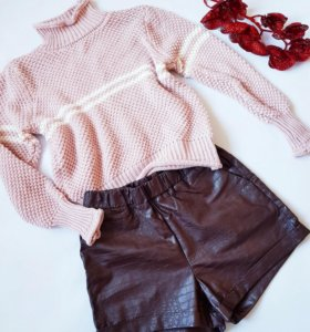 Вязаный свитер и шорты H&M
