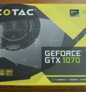 Видеокарта ZOTAC GTX1070 mini