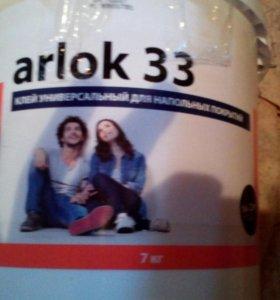 Клей для линолеума Arlok 33 7 кг + шпатель d 200