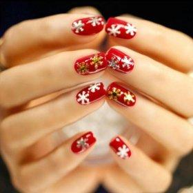 Снежинки на ногти