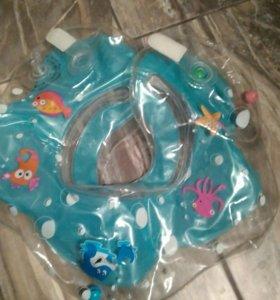Новый круг для купания на шею младенца