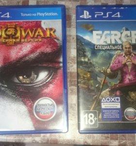 Диски на Sony ps GOD OF WAR 3 и Far Cry 4