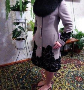 Зимнее пальто кашемир\ шерсть