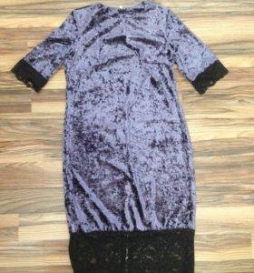 Платье бархатное новое