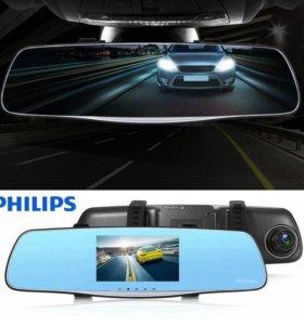 Видеорегистратор-зеркало заднего вида Philips