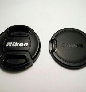 Крышки для объективов Canon Nikon