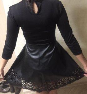 Платье из ЭКО- кожи