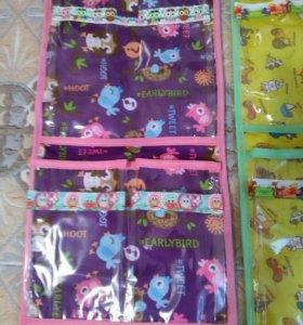 Прозрачные кармашки в шкафчик в детский сад