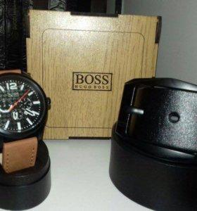 Комплект: часы+ремень+подарочная коробочка