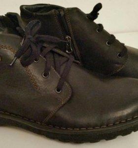 Мужские ботинки (Польша) из натур.кожи и меха,46,5