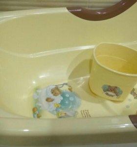 Детская ванночка и ковшик