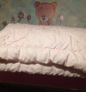 Одеяло, подушка, 2 комплекта белья