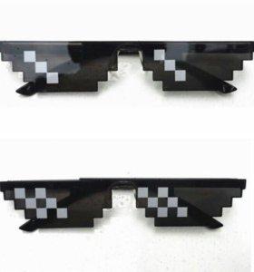 Очки бренд стикер, смайл солнцезащитные