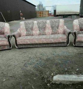 """3545 комплект """"Венера"""" диван-книжка и 2 кресла"""