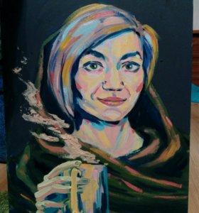 Портрет рисунок подарок картина