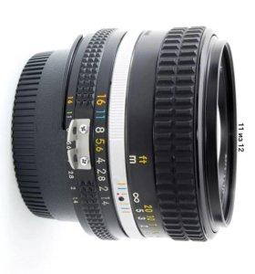 Светосильный обьектив Nikon nikkor 50 mm f1.4 ais