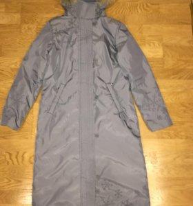 Пальто удлинённое на тёплую зиму баон