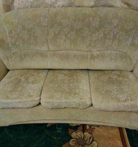 Удобный мягкий диван два кресла в ПОДАРОК