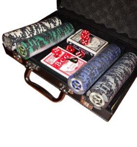 Покер набор 200 фишек (новый)