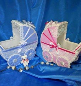 Свадебные колясочки для сбора денег на свадьбу