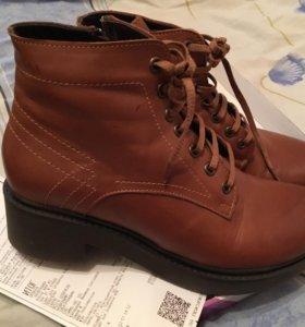 Новые ботинки кожа ( тёплые )