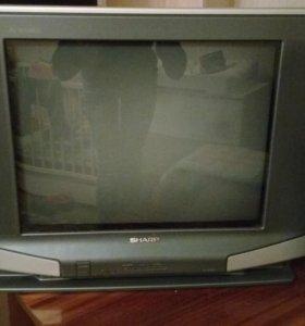 Телевизор Sharp c плоским экраном (ЭЛТ)