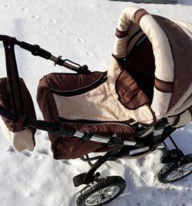 Коляска детская зима-лето и люлька