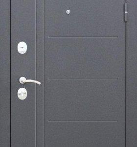 Входная металлическая дверь Троя Серебро