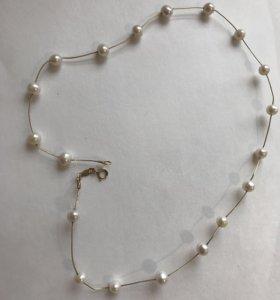 Золотое ожерелье с жемчугом