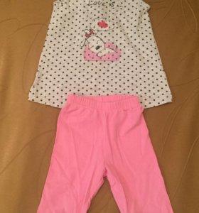 Детская пижама на 1-2 года