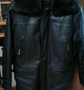 Зимняя кожанная куртка.