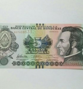 5 лемпир Гондурас