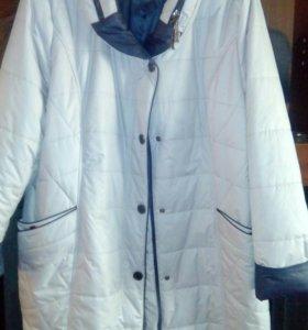 Пальто утепленное р 58 новое