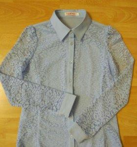 Рубашки голубые школьные 140 размер