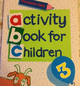 Activity book for children 3,4