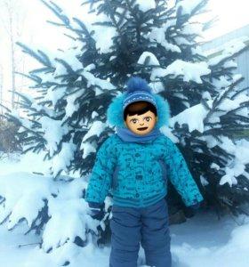 Зимний костюм размер 80