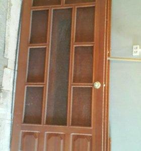 Двери межкомнатные 230×90 из массивасосны (обмен)
