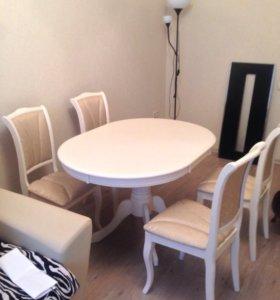 Классический стол и 4 стула!