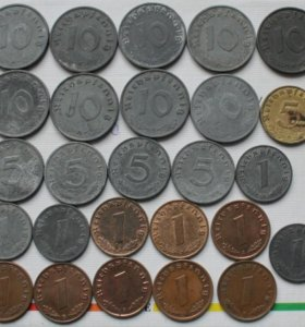 третий Рейх монеты - коллекция 26шт.