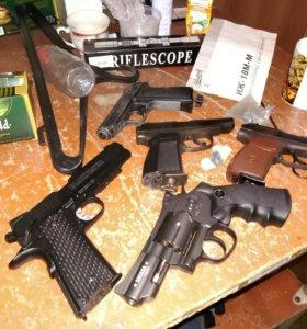Кольт, револьвер, мр654 -2шт.